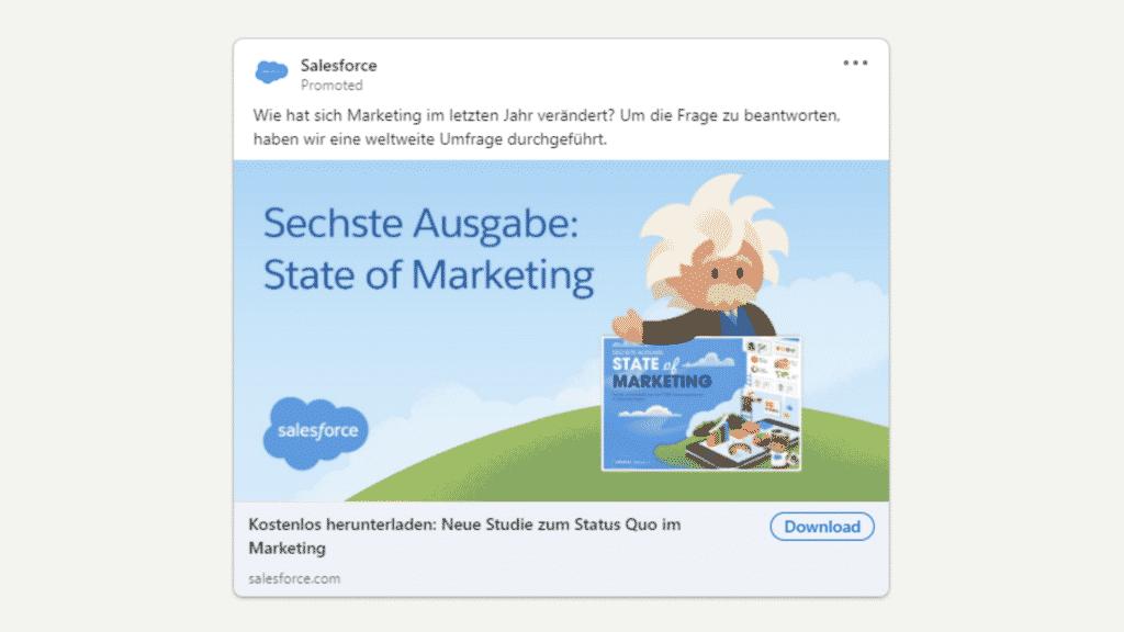 Linkedin Anzeigen Beispiel fur Ebook Download Salesforce